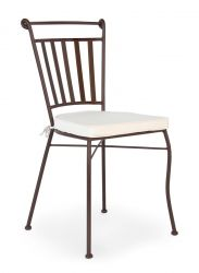 Outdoor Chair with Cushion Duke | White