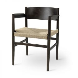 Nestor Seat | Sirka Grey Beech & Paper Cord