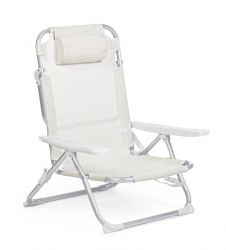 Outdoor Deckchair Cross Siesta | White