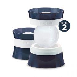 Eiskugelformen - 2er-Set   Schwarz