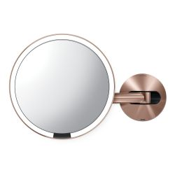 Mirror Sensor with Wall Mount USB | Rose Gold