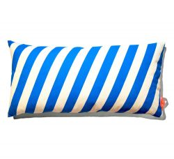 Cushion 40x80cm Blue & White - Striped