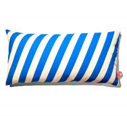 Kissen 40x80cm Blau & Weiß - gestreift