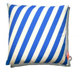 Cushion 60x60cm Blue & White - Striped