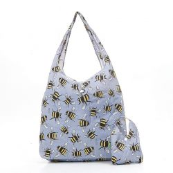 Shopping Bag | Bees | Grey