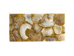 Agat Platte 38 x 19 x 1 | Gold