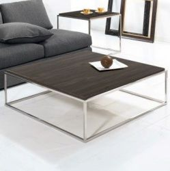 Lamina Coffee Table | Stainless Steel & Ardesia Walnut