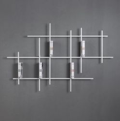 Libra Wall Bookcase 2 | Sandblasted White