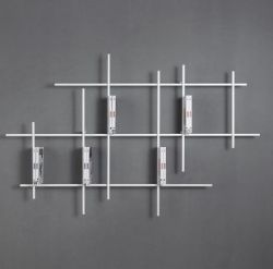 Libra Wall Bookcase 5 | Sandblasted White