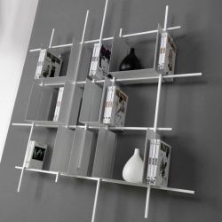 Libra Bookcase COMP2 | Sandblasted White