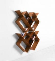 Mondrian Bookcase COMP1 | Sandblasted Copper (22) & Sandblasted Copper (25)