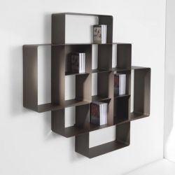 Mondrian Bookcase COMP2 | Sandblasted Chocolate (22) & Sandblasted Chocolate (25)