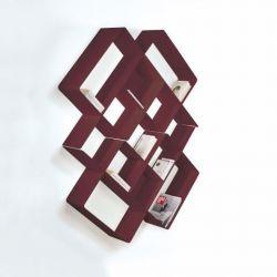 Mondrian Bookcase COMP3 | Sandblasted Marsala (22) & Sandblasted Marsala (25)
