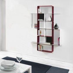 Mondrian Bookcase COMP4 | Sandblasted Marsala (22) & Sandblasted White (25)