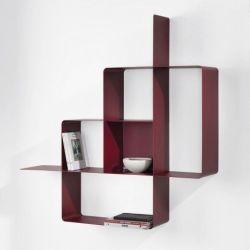 Mondrian Bookcase | Sandblasted Marsala (22) & Sandblasted Marsala (25)