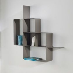 Mondrian Bookcase | Sandblasted Dove Grey (22) & Sandblasted Dove Grey (25)