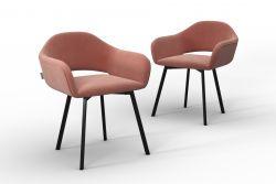 Set Of 2 Chairs Oldenburg | Powder Pink-Velvet Touch