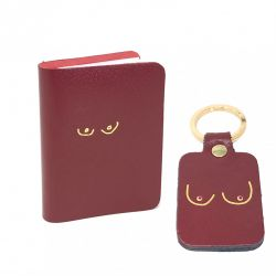 Notebook and Key Ring Boob | Red