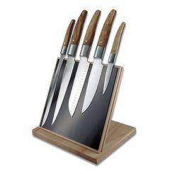 Messerblock mit 5 Messer | Schwarz