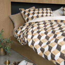 Bettdeckenbezug Holzwürfel