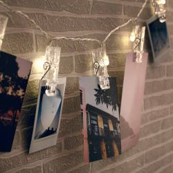 Schnurlicht mit Fotoclips