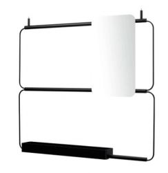 Modular Shelf Nudo L Mirror | Black