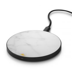 Wireless Charger | White Marble / Black