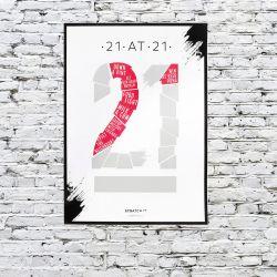 Poster Kratzen & Enthüllen | 21 at 21