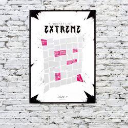 Poster Kratzen & Enthüllen Extreme