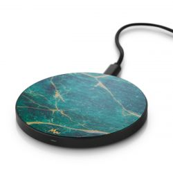 Wireless Charger | Green Marble / Black