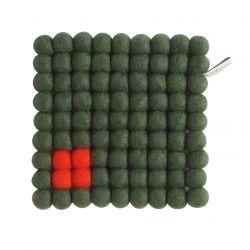 Topfuntersetzer Quadrat | Moosgrün