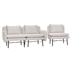 Modular Sofa for 3 People | Light Grey/Black