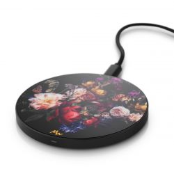 Wireless Charger | Vintage Flowers / Black
