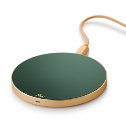 Wireless Charger | Forest Green / Gold