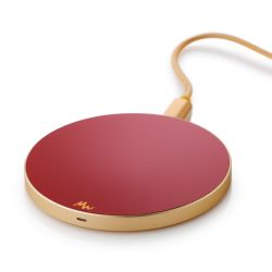 Wireless Charger | Ruby Red / Gold