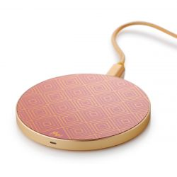 Wireless Charger | Golden Squares / Gold