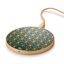 Wireless Charger | Geometric / Gold