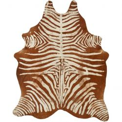Cow Hide Zebra | Brown & White