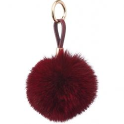 Key Chain Pom Pom | Bordeaux