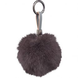 Key Chain Pom Pom | Dark Grey