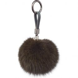 Key Chain Pom Pom | Dark Green