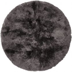Design Rug New Zealand Round | Dark Grey