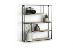 Wall Rack Bilbao Wood & Metal