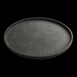 Dienblad Terrazzo Klein Dia. 55 cm | Zwart