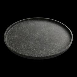 Dienblad Terrazzo Groot Dia. 80 cm. | Zwart