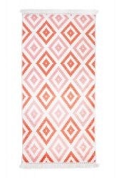 Patterned Carpet with Fringes | Coral