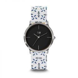 Frauen-Uhr Petal 34 | Weiß & Blau