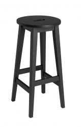 Bar Stool Confetti | Black Stained Oak