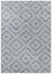 Flatweave In- & Outdoor Carpet Creil | Blue Cream
