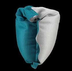Beanbag Complete 175 x 125 cm | Grey + Tile Blue